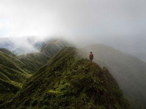 Katie Ersbak on a summit ridge line