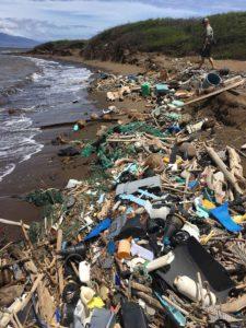 Marine debris on a Hawaiian beach