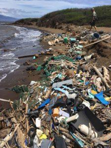 Marine debris washed ashore in Hawaii