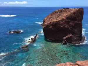 Heiau atop Sweetheart Rock, Lanai, The Wildlife Society Hawaii Chapter